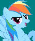Moku Rainbow Dash Character Portrait