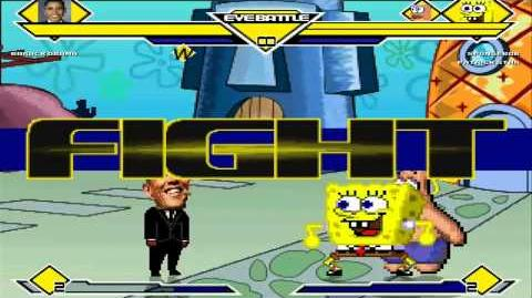 MUGEN Barack Obama vs Spongebob Squarepants & Patrick Star