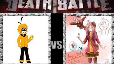 AngryMugenBirds/Yoshiarta Vote: Human Orange Bird vs Human Pink Bird