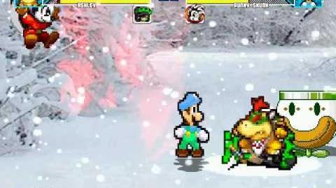 (M.U.G.E.N Request) Bowser Jr & Ashley VS Super Better Luigi & Punky Skunk