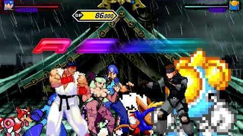 Mugen Request Ryu, Megaman, Morrigan & Jill Valentine vs Snake, Twinbee, Sparkster & Kid Dracula