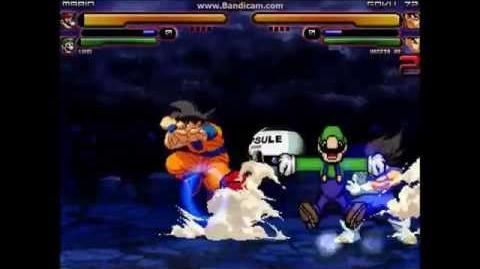 M.U.G.E.N- Mario and Luigi vs Goku and Vegeta