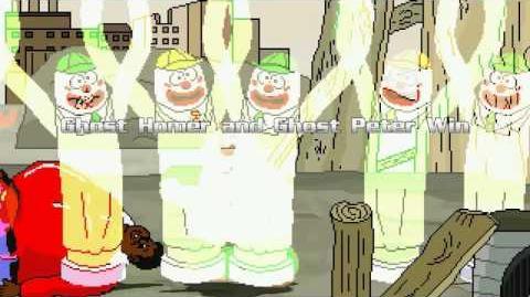 AN Mugen Request 21 Ghost Homer & Ghost Peter VS Fat Albert & Scorpion