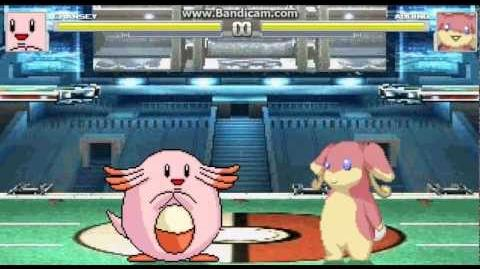 Mugen battles 3 Chansey (Me) Vs Audino