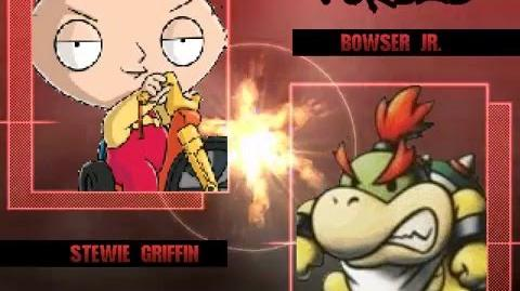 B MUGEN Stewie and Brian vs Bowser Jr and Larry Koopa (stewie WIP test showcase)