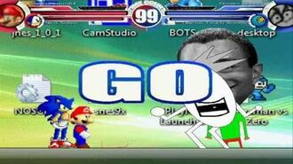 Super Mario 64 & Neo Sonic vs Dooby Dummy & Omega Tiger Woods MUGEN Battle!!!