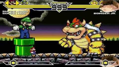 Super Mario & Super Luigi vs Bowser & Bowser Jr. MUGEN Battle 1