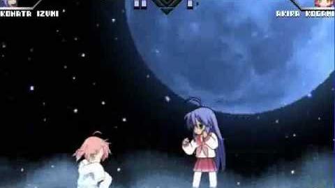 Konata fighting whit Akira
