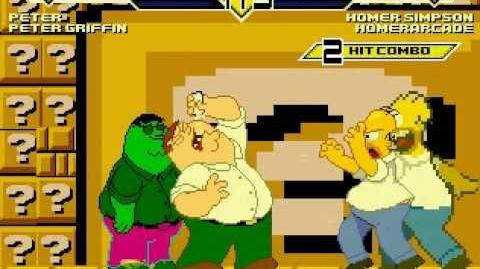 Team Homer Simpson vs Team Peter Griffin MUGEN Battle!!!