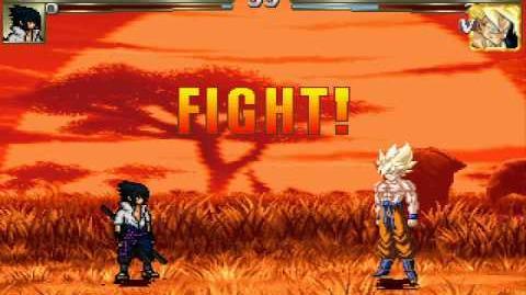 MUGEN-Sasuke vs Goku Legend