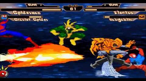 Mugen - Spiderman & ScarletSpider vs Electro & Hobgoblin