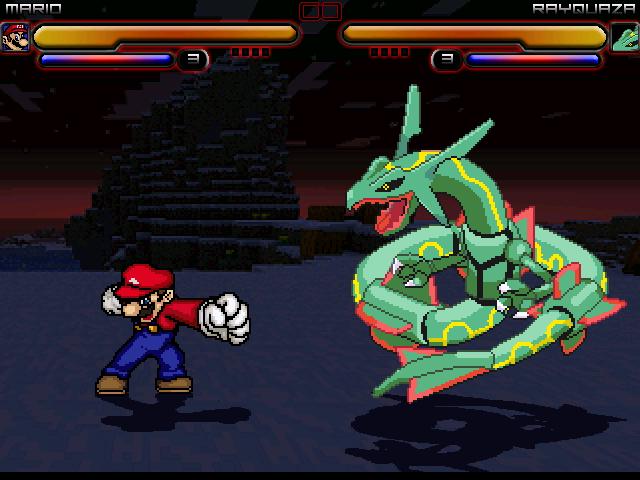 Mario vs Rayquaza