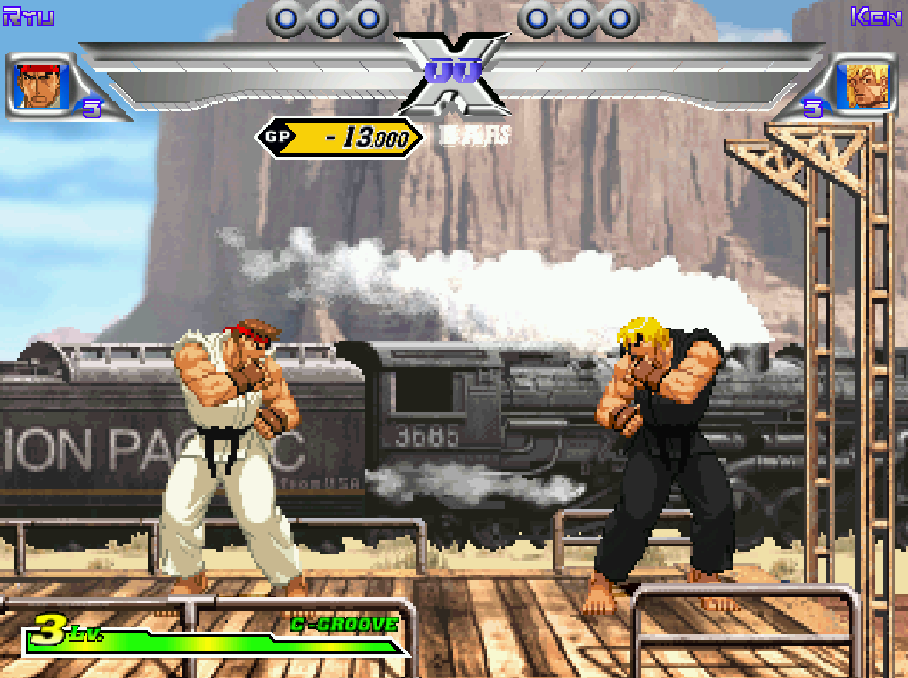 train stage  capcom vs  snk  millennium fight 2000