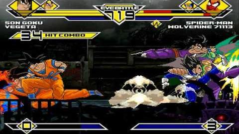 Team Son Goku vs Team Spiderman 4v4 Patch MUGEN 1