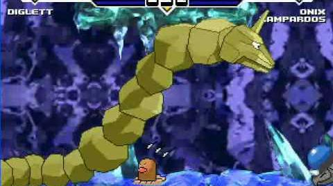 MUGEN Diglett VS Rampardos and Onix.
