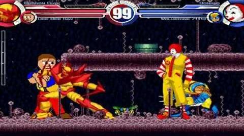 Dragon Claw & Dee Bee Kaw vs Donald & Wolverine MUGEN Battle!!!