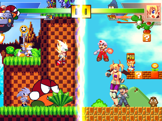 Fusion Worlds: Sonic vs  Mario | MUGEN Database | FANDOM