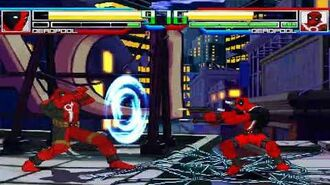 NICK54222 MUGEN Deadpool (Infinite) (me) VS Deadpool (Unlimited Team)