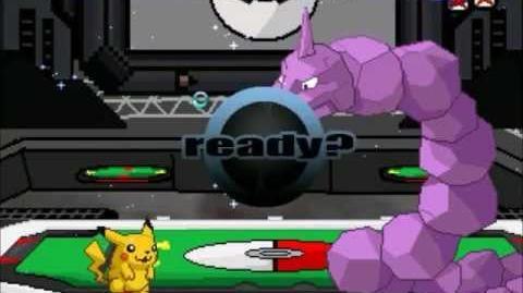 Mi MUGEN Pikachu vs Snorlax, Gengar & Onix (24 11 2012)