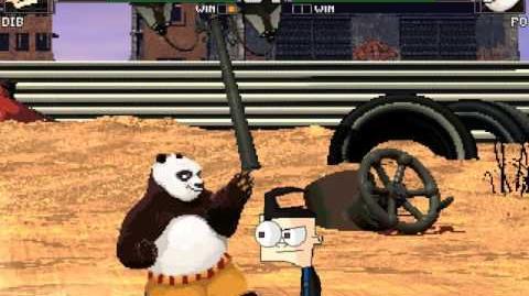 Dib vs Kung fu panda Po