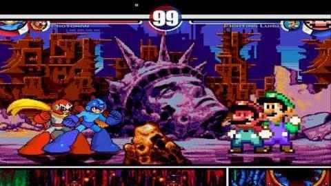 Megaman & Protoman vs Fighting Mario & Fighting Luigi MUGEN Battle!!!