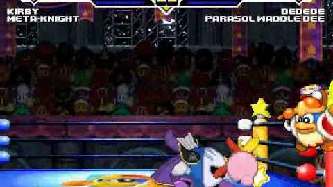 TK's Random Mugen Battle 978 - Kirby & MetaKnight VS Parasol Waddle Dee & King Dedede