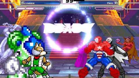 MUGEN fox mccloud y gwinbee vs iron patriot y red X
