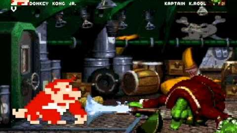 MUGEN Donkey Kong Jr. (me) vs. Kaptain K