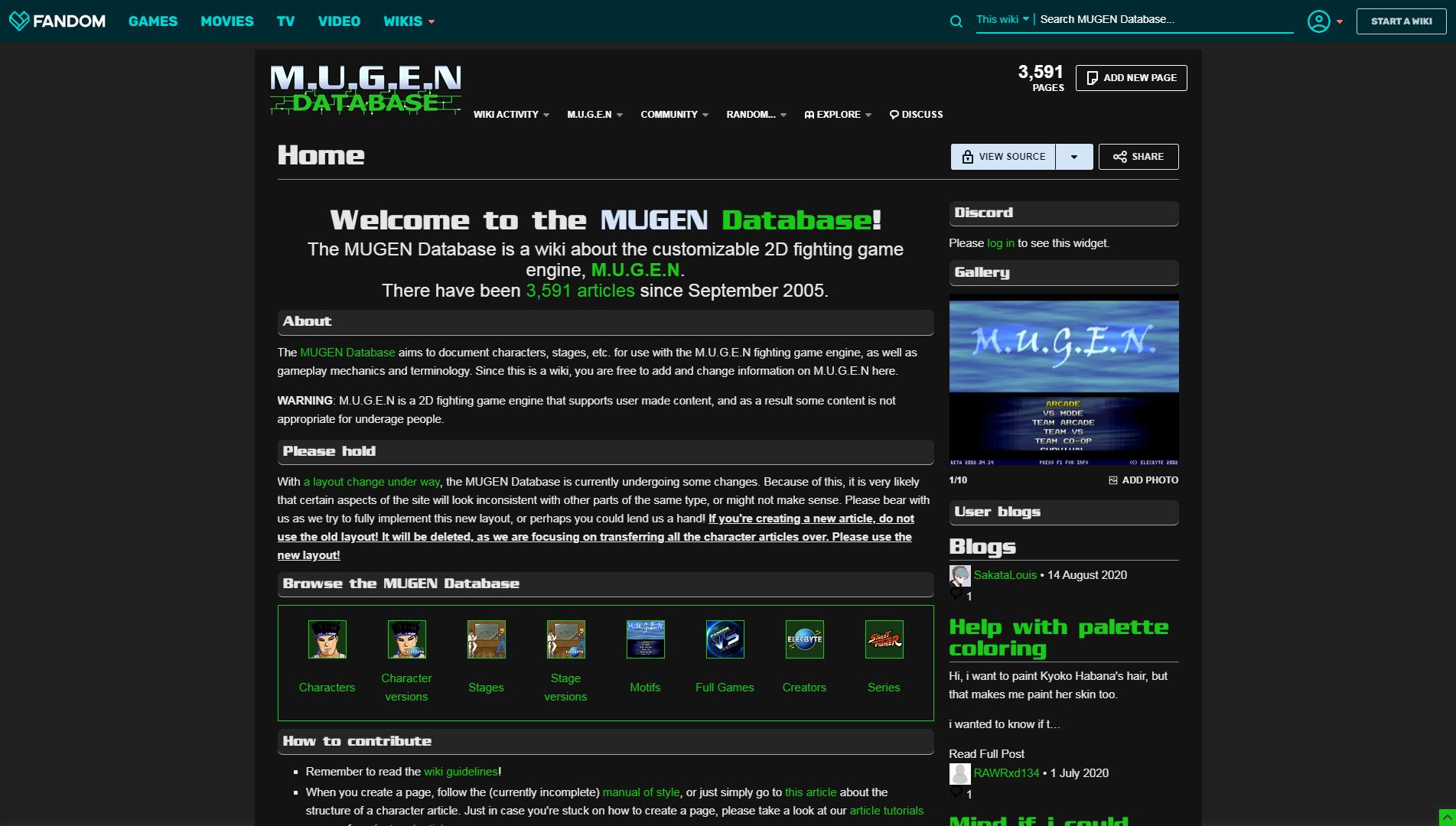 MUGEN Database | MUGEN Database | FANDOM powered by Wikia