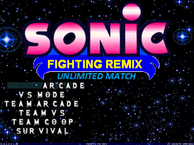 Sonic Fighting Remix: Unlimited Match | MUGEN Database | FANDOM
