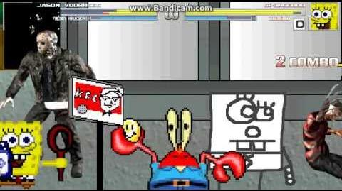 MUGEN Jason Voorhies and Freddy Kruegar vs Spongebob and Doodlebob