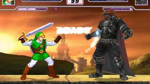 SM Mugen Battle 9 Link vs Ganondorf