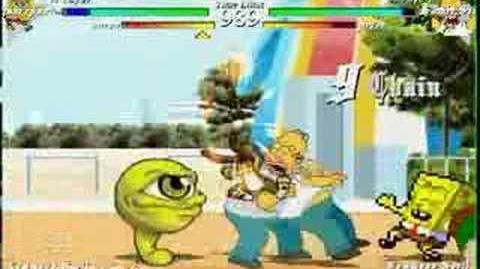 MUGEN Spongebob(Me) and Suezo vs Homer Simpson and Peter