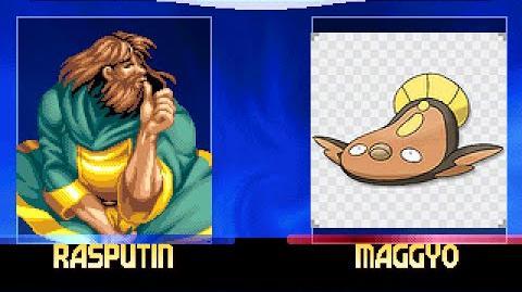 MUGEN- Rasputing(Me) vs Stunfisk (AI)
