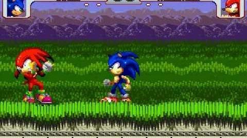 Sonic vs Knuckles MUGEN Battle!!! (Rivals)