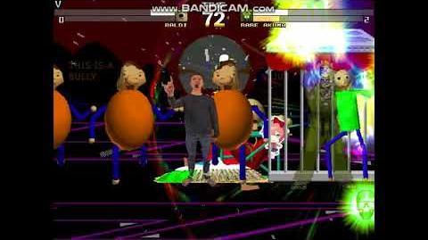 (FLASHING LIGHTS WARNING) M.U.G.E.N. - Baldi vs. Rare Akuma