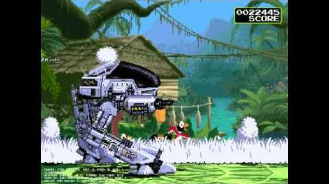 MUGEN - ED-209 goes duck hunting