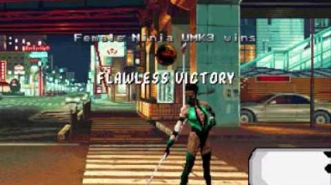 X Mugen Alpha - Female Ninja UMK3 VS Sandbag (Watch Mode)