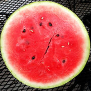 Cut watermelon squared circle