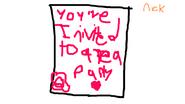 Tea Party Invitation form