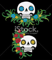Stock-illustration-10266455-mexican-day-of-the-dead-sugar-skulls