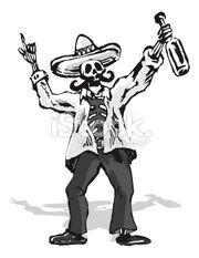 Stock-illustration-3071675-drunk-mexican-skull-character