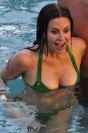 Courteney Cox Green Bikini Cougar Town Set 4