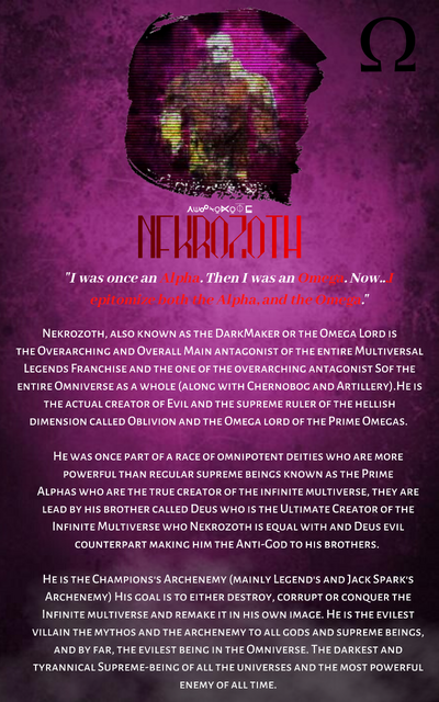 On September 10th, 2018, a page titled Nekrozoth was contributed to the Idea Wiki by FANDOM user BrandonDarkOne47. The article was breif, mostly a spur of concepts and ideas. Still, it began to gain popularity (1)