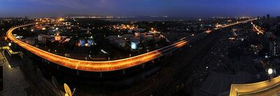 The Eastern Freeway, Mumbai at night