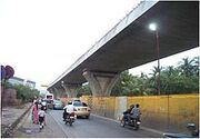 Sahar Elevated Access Road under construction 3