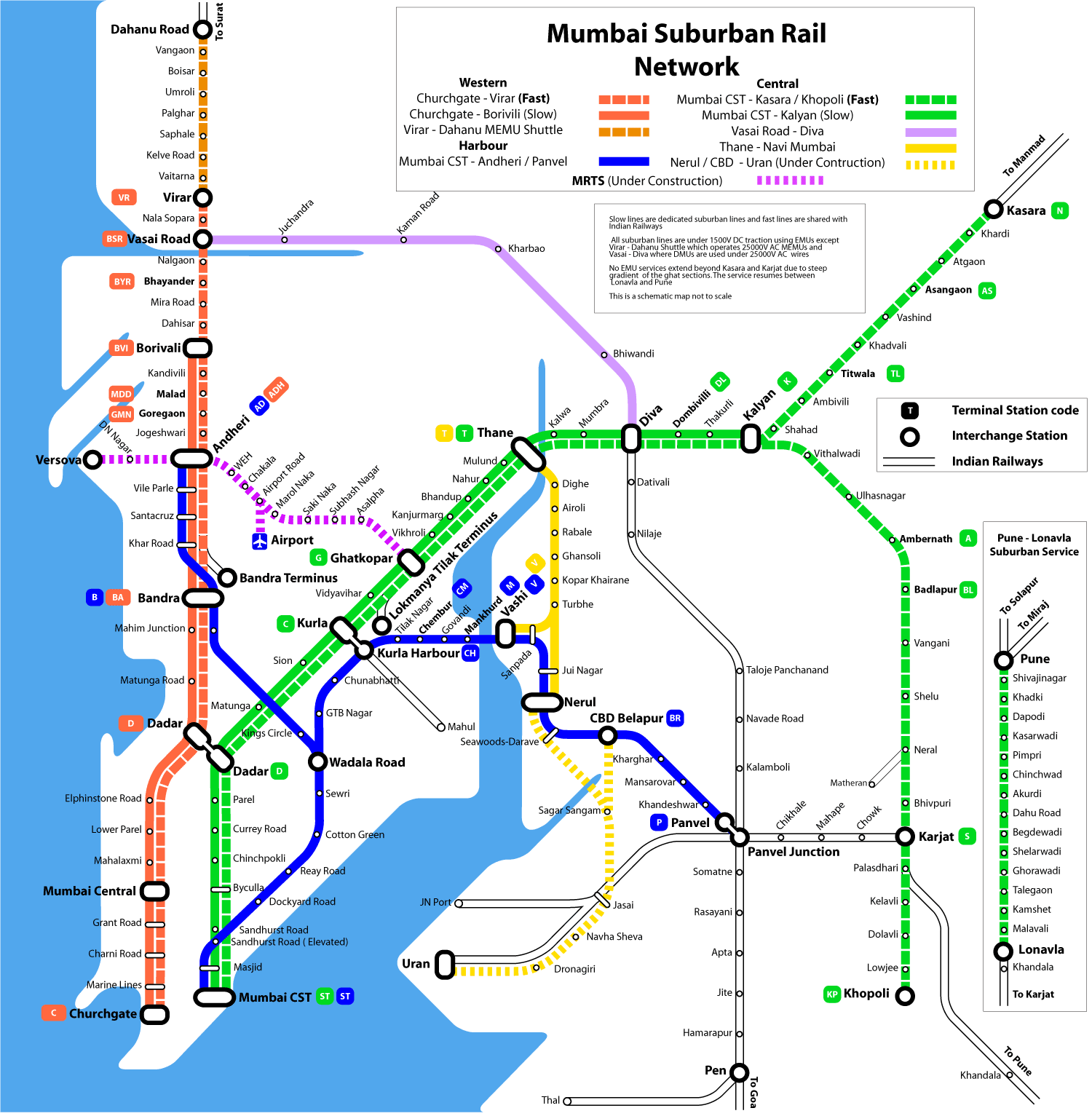 Railway Map Mumbai Image   Mumbai suburban rail map.png | Mumbai Wiki | FANDOM  Railway Map Mumbai