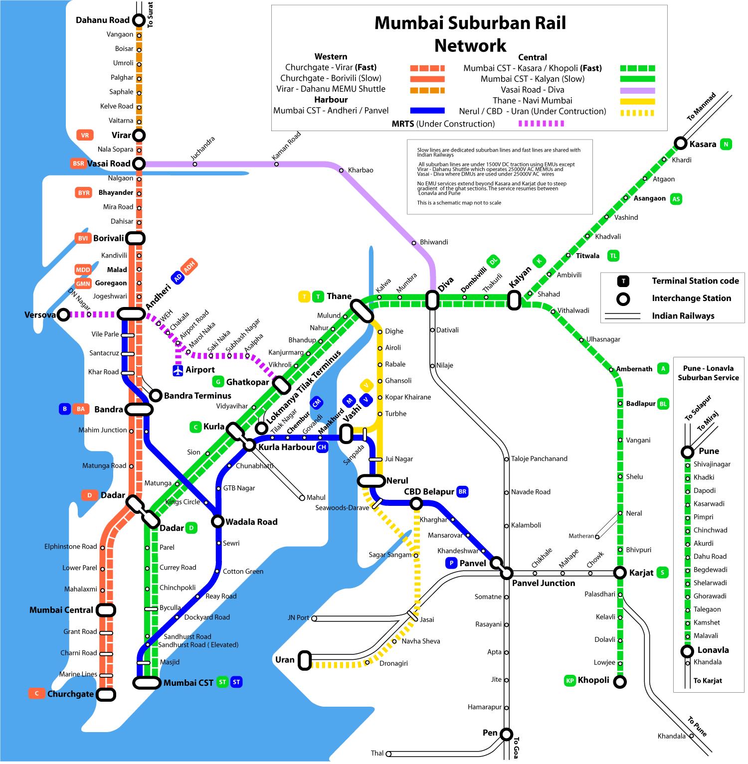 Image - Mumbai suburban rail map.png | Mumbai Wiki | FANDOM powered ...