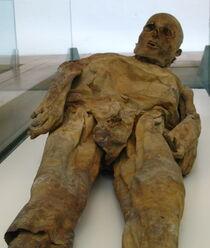 Venzone Dom Friedhofskapelle Mumie 01
