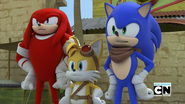 S1E39 Sonic Tails Knuckles
